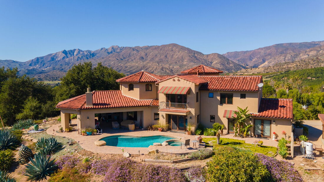 ojai horse property for sale with avocado orchard